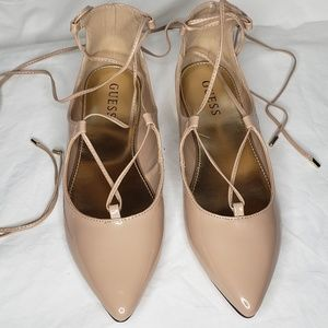 Guess Nude Patent Flats